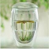 De Koppen/de Mokken van de Thee van het Glas van het bureau met Infusie voor Giften Pomotion