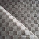 Tissu court gravé en relief de velours de pile avec le support de T/C