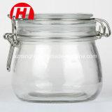 500ml comerciano il vaso all'ingrosso di vetro di memoria dell'ostruzione del commestibile