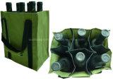 Sac durable du vin 600d avec le logo personnalisé pour 6 bouteilles