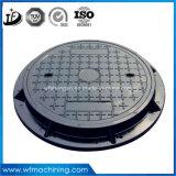 En124 B125 duktiles Eisen-rundes Einsteigeloch-Deckel-Roheisen-Einsteigeloch-Deckel-rundes duktiles Eisen-Einsteigeloch