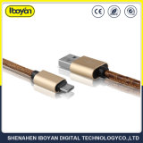 이동 전화를 위한 주문을 받아서 만들어진 색깔 마이크로 데이터 충전기 케이블 USB