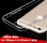 新製品はiPhone 6 6s移動式カバーケースのための携帯電話アクセサリの極めて薄い0.3mm TPUの箱を卸し売りする