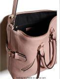 유행 분홍색 색깔 여자 핸드백 Zip 형식 부대