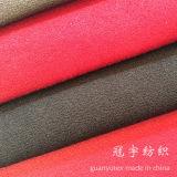 Kurzes Stapel-Polyester-Veloursleder-Sofa-Gewebe mit Schutzträger