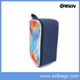 다채로운 줄무늬에 의하여 격리되는 점심 부대 사각 냉각기 부대