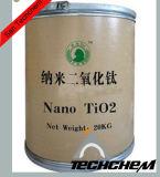Dióxido Titanium nano de 25 nanómetro para el cosmético, farmacia, TiO2 eléctrico