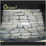 Impiallacciatura grigia della pietra della pila della pietra della parete di colore