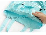 Saco de compra desobstruído dos sacos de Tote do algodão da lona do indicador do PVC