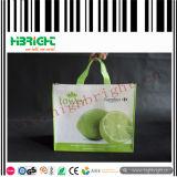 Bolso de compras no tejido modificado para requisitos particulares de los PP de la impresión de la insignia