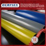 Matériau matériel enduit de vinyle de tissu de polyester de vinyle de PVC par la cour