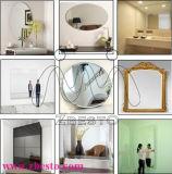Grandi specchi rotondi/lungamente incorniciati d'argento per le pareti