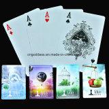 Cartões de jogo 100% plásticos Washable personalizados do póquer, cartões de jogo feitos sob encomenda