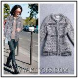 Diseño de Moda Invierno Europeo Señoras lana chaqueta corta