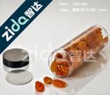 Vaso di plastica della caramella della bocca della radura larga rotonda libera dell'alimento, vaso di plastica del biscotto trasparente per alimento