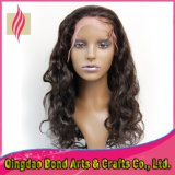 Parrucca all'ingrosso del merletto di Glueless dei capelli umani del Virgin