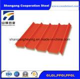 Tuile d'onde de toiture de couleur de toiture de Gi de matériau de construction