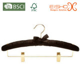 Черная сатинировка/проложенная тканью вешалка для гостиниц (MR009-1)