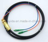 LC/APC-LC/APC de waterdichte Vlecht van de Kabel van de Optische Vezel