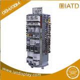 Sauter l'étalage en bois de relèvement de crémaillère de tuile de mémoire de Pegboard de fileur de compteur d'étage avec le frein pour le bijou d'écran LCD/chargeur