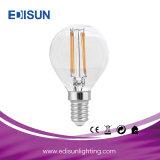 세륨 RoHS SAA 승인을%s 가진 LED 필라멘트 전구 G45 6W E14 E27