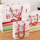 Мешки подарка дня рождения высокого качества с мешком подарка бумаги искусствоа бумаги ручки тесемки лоснистым