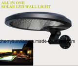 Lámpara al aire libre impermeable del movimiento sin hilos de la seguridad de la luz de la pared del sensor de la energía solar