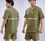 2015 militari Underwear Set in Olive Green V Neck