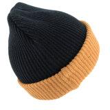 عادة تطريز يحبك [بني] قبعة