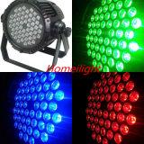 4PCS /54 X 3W RGBW Waterproof a luz da PARIDADE para o partido da luz da música da lâmpada do partido do clube