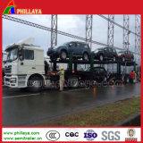 Transportador del coche del acoplado del cilindro hidráulico de dos árboles