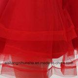 帰郷の服の恋人によって玉を付けられる袖なしのテュルの短い小型プロムの服