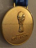 2018 het Medaillon van de Medaille van de Herinnering van het Kampioenschap van het Voetbal van de Kop van de Wereld van Rusland Moskou
