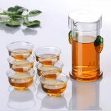 شاي واضحة زجاجيّة شاي مجموعة [تكب] مبتكر