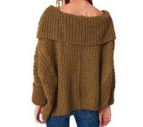 Europäische Art-Form-strickender Strickjacke-Viskose-Pullover