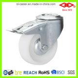 160mm weißes Nylonbolzenloch mit Bremsen-Fußrollen-Rad (G102-20D160X40S)