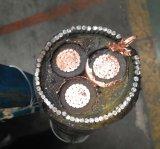 Câble d'alimentation à trois fils de 11kv avec fil d'acier blindé