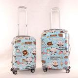 漫画によって印刷される堅い荷物のスーツケース3部分のパソコン+ ABSトロリー袋