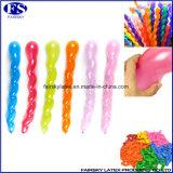 Heißer Verkaufs-multi Farben Spiral-Ballon, Verdreht Latex Lange China Luftballons Latex Großhandel