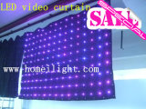 LED de alta calidad de Video Visión CORTINA cortina para DJ Boda