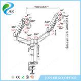 Stand réglable de moniteur de cornière de pouce 27 du bras 15 de moniteur lcd de Duel-Écran de Jn-Ds324c '' - ''