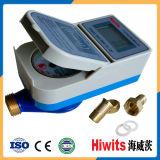 Счетчик воды Mbus RS485 толковейшей IC дистанционного чтения цифров предоплащенный карточкой