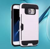 Nueva caja enmarcada TPU del teléfono celular de los parachoques de la PC del diseño para el caso del borde de la galaxia S7 de Samsung con el soporte