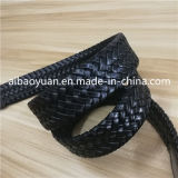 Cinghia lavorata a maglia nera del grano trasversale della cinghia di cuoio