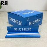 Richer Blanqueado 13GSM Ultra Delgado tabaco cigarrillo Rolling Paper