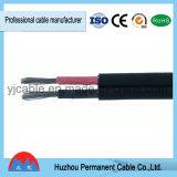 2*4mm2 2*6.0mm2 Câble solaire PV pour TUV approuvées, deux coeurs