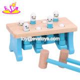 Neues heißestes umweltfreundliches lustiges hölzernes Baby-Hammer-Spielzeug für Stampfen verdübelt W11g043