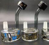 Masque de ski de l'or X de taudis - la glace parfaite de pipe de barboteur de galet de plates-formes pétrolières de pipe de pipe de recycleur en verre de narguilé siffle la pipe de vente en gros d'usine de la Chine