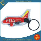 Avión personalizado de alta calidad forma Llavero impresos para la promoción como regalo