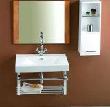 Lavabo de Ceramci de vanité de Cabinet de salle de bains d'OEM avec Cupc (SN1538-100)